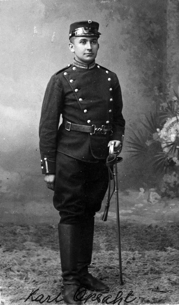 Karl Opsal, som artillerist, 1910 Studiofoto