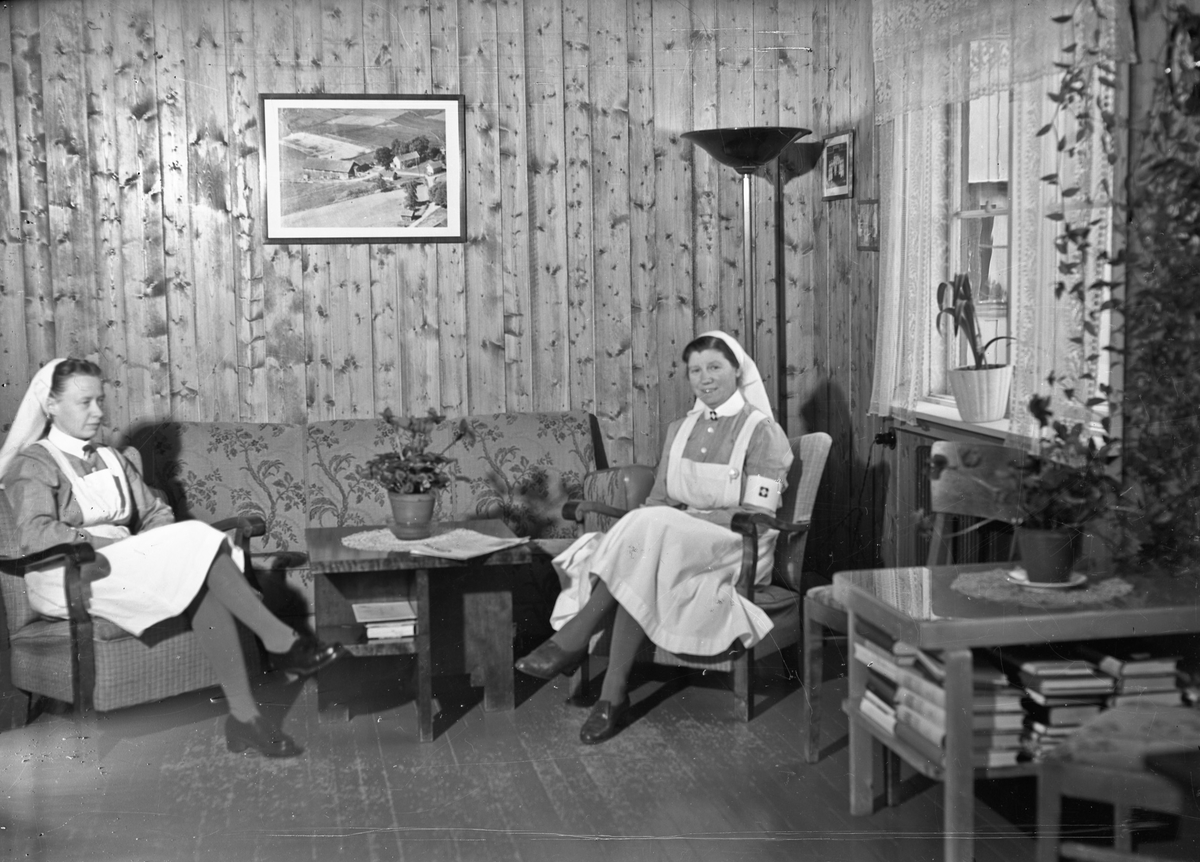 Kvinner i sykehusuniform.
