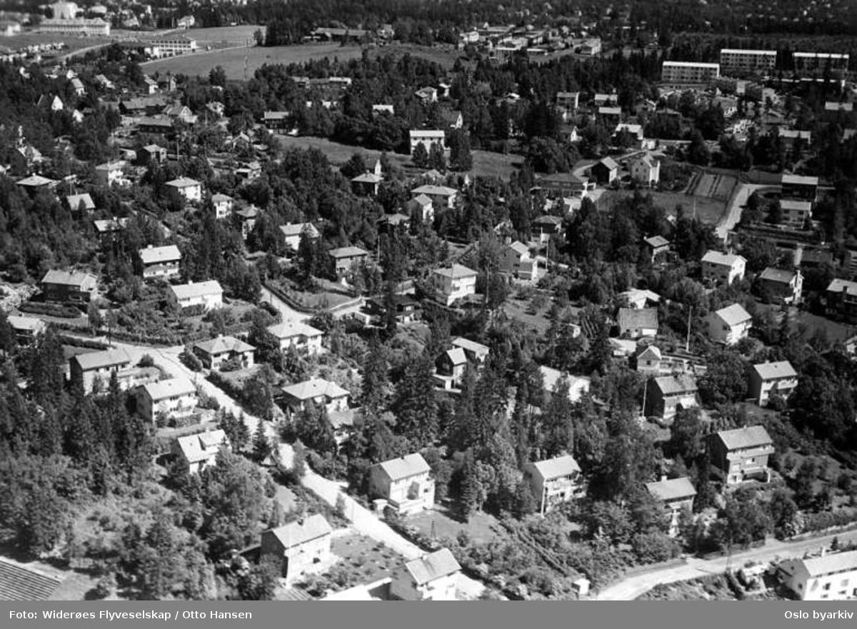 Melumveien, Kristian Auberts vei - Fådveien (Flyfoto)