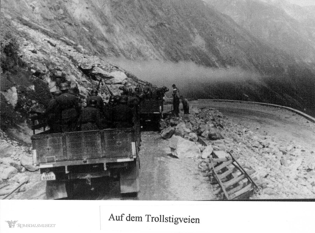Tyske bilder, Trollstigen .(Bilder tatt av tyske soldater i Norge under krigen)