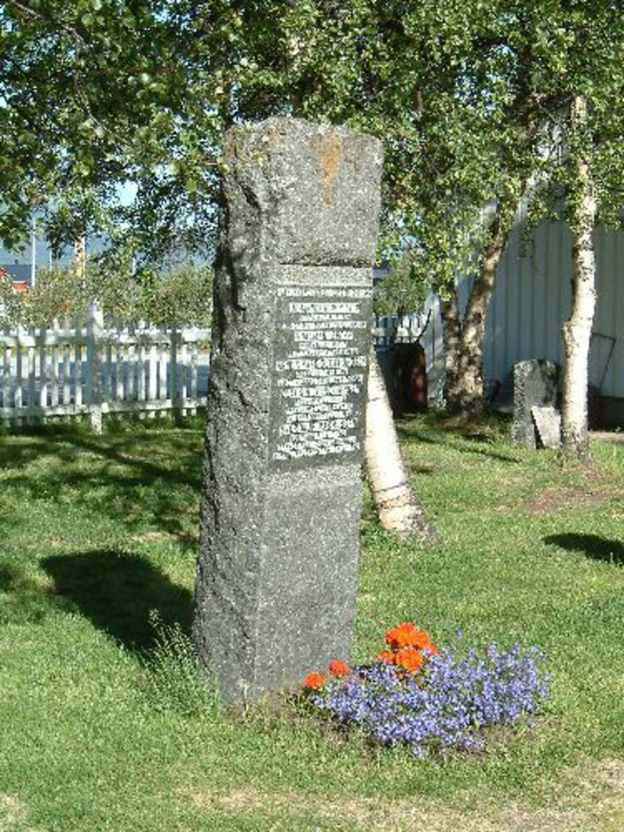 Bronsetavle, ca. 125 x 75 cm.