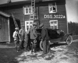 Skogforvalter Hans B. Bergers bil på skogvoktergarden Snerte