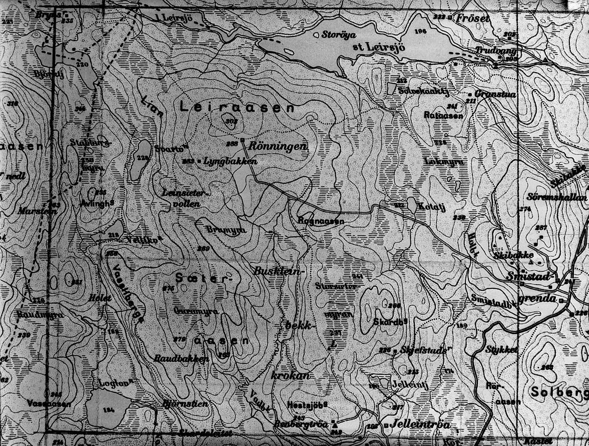 Kart for Sportsklubben Trond