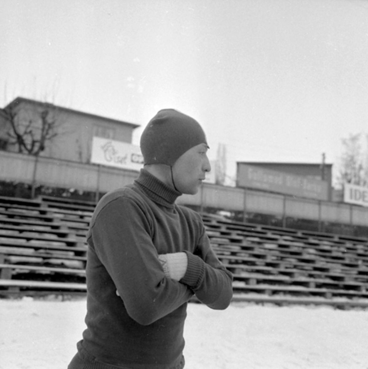 Boris Stenin, Sovjet, skøyteløper, Hamar Stadion.