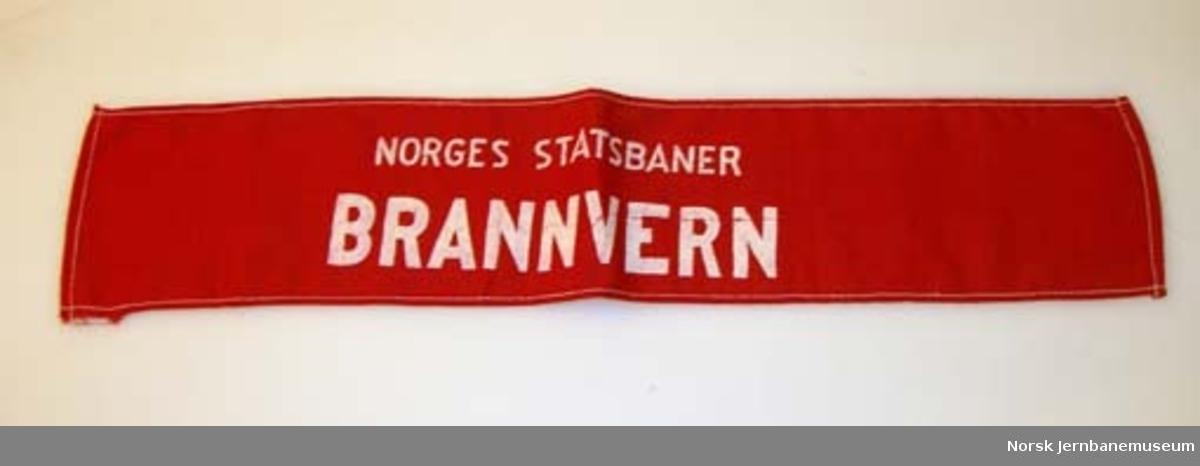 "Armbind ""NORGES STATSBANER / BRANNVERN"""