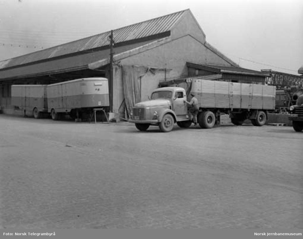 NSB-trailer for kretskjøring av stykkgods