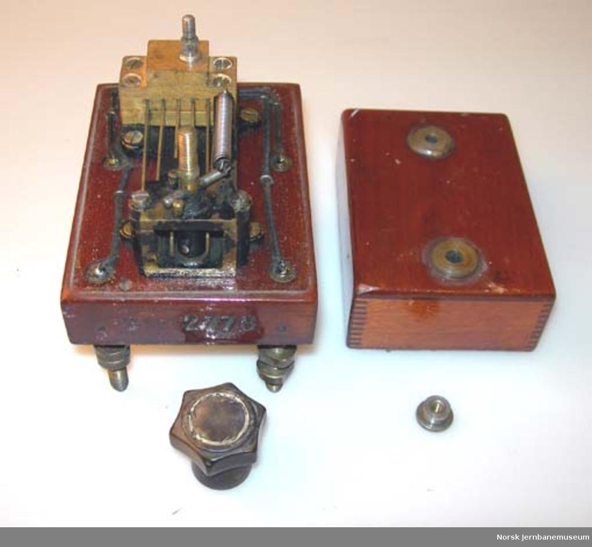 Kommutatornøkkel til signaltelegraf