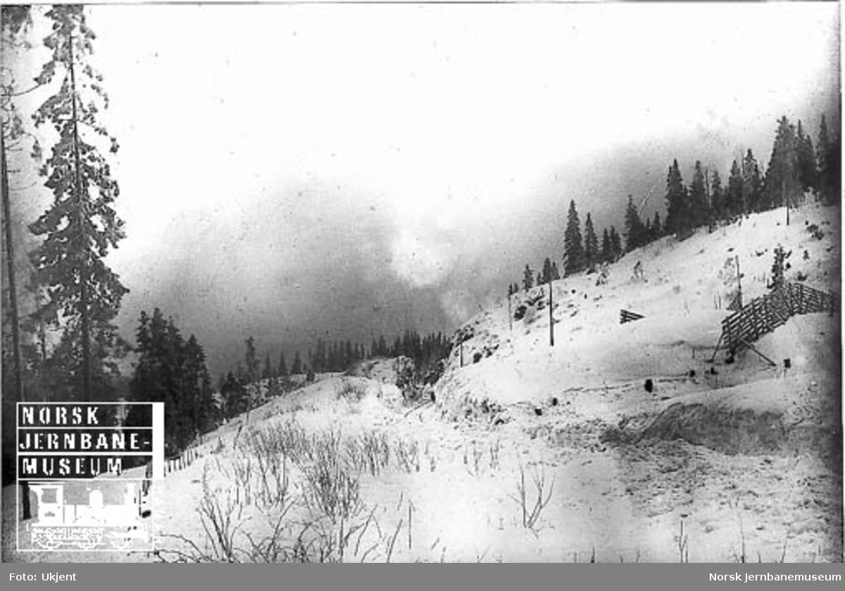 Store snømengder i Bomstue skjæring