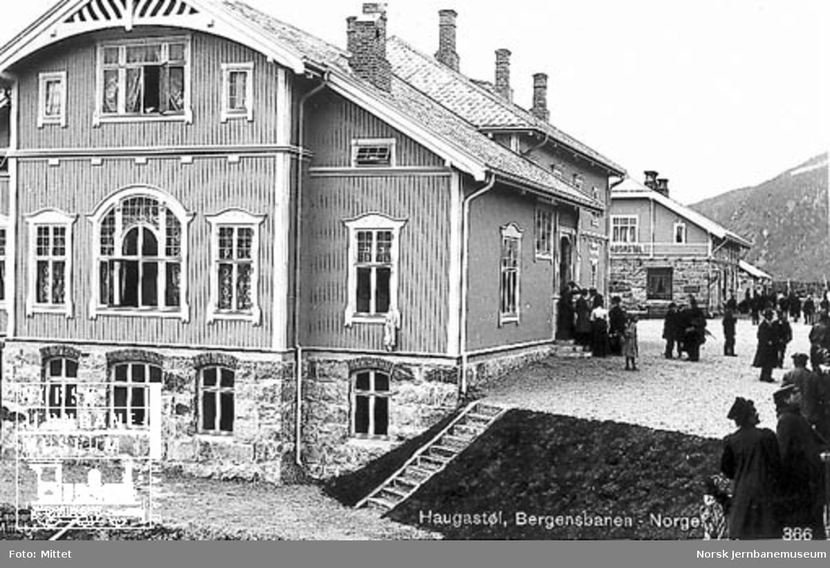 Reisende på Haugastøl stasjon