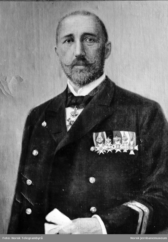 Jernbanemuseet på Disen : Maleri av driftsbestyrer Johan Fredrik Didrikson, formann i museets første styre