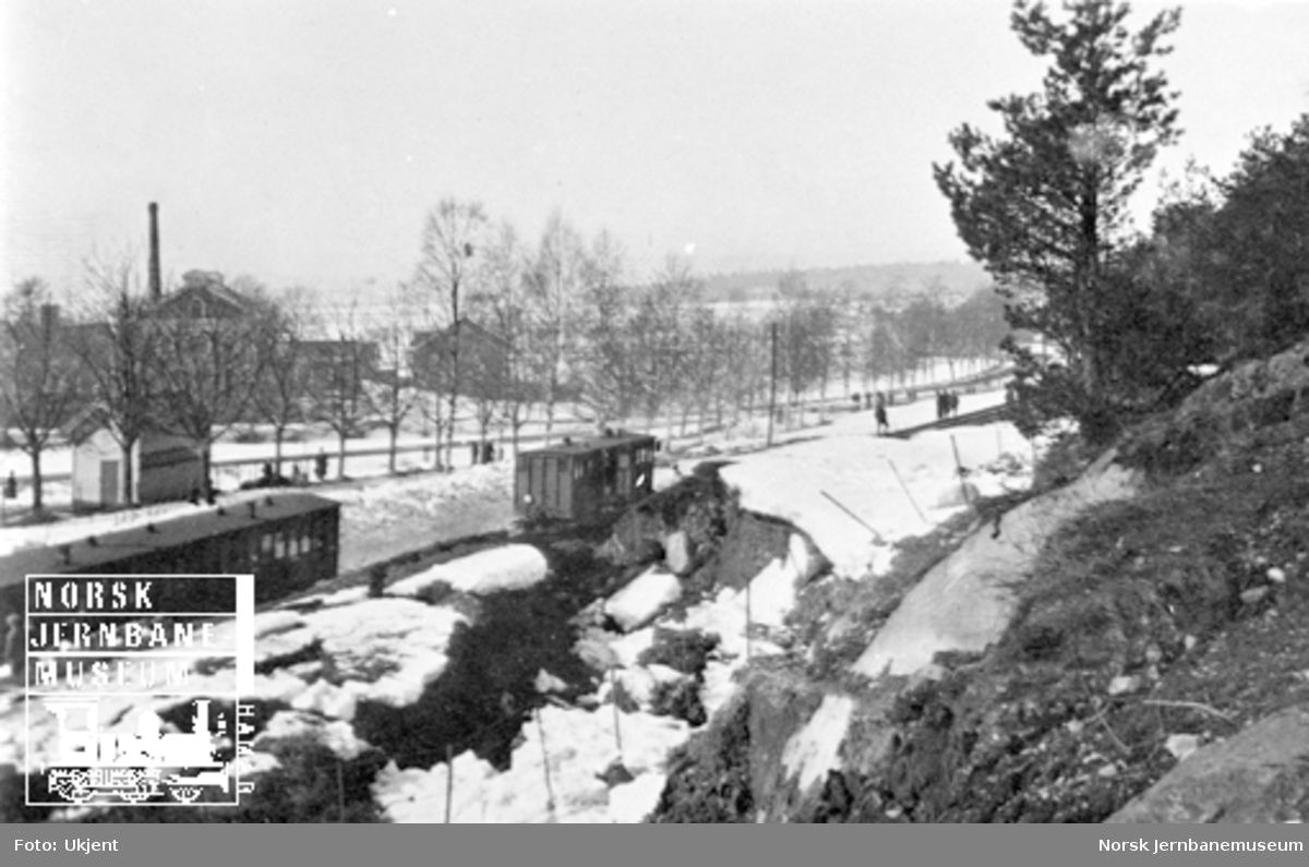 Togavsporing på ny ringlinje ved Tønsberg