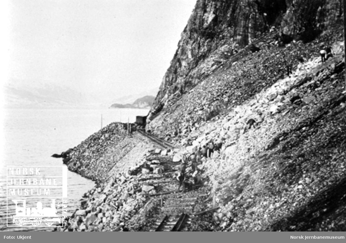 Steinras på Flekkefjordbanen