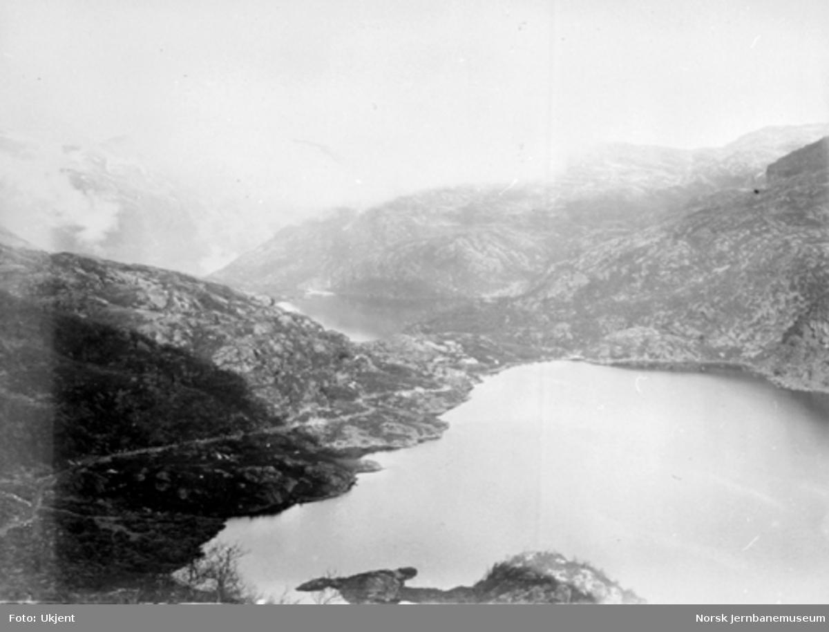 Bergensbanens anlegg; utsikt fra Seltuftbergene