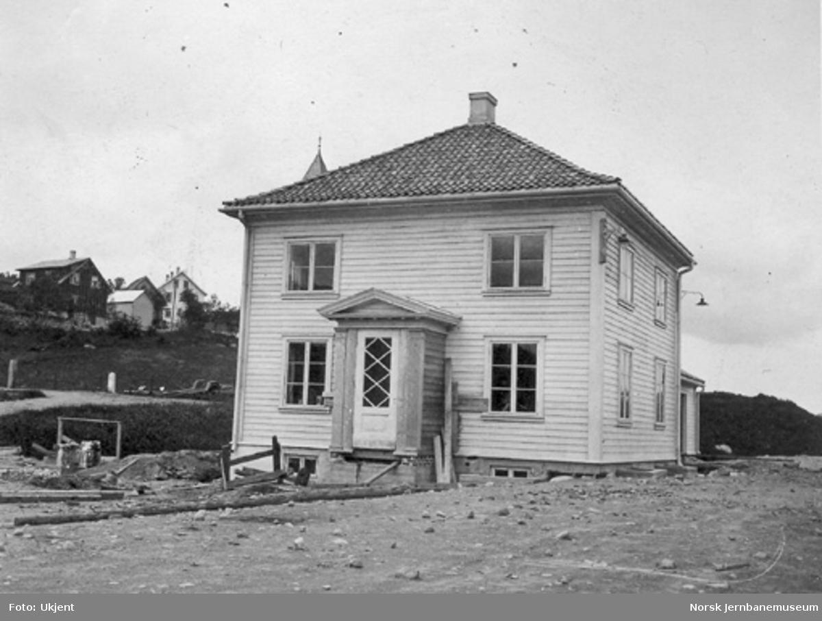 Ålgård stasjonsbygning under oppføring