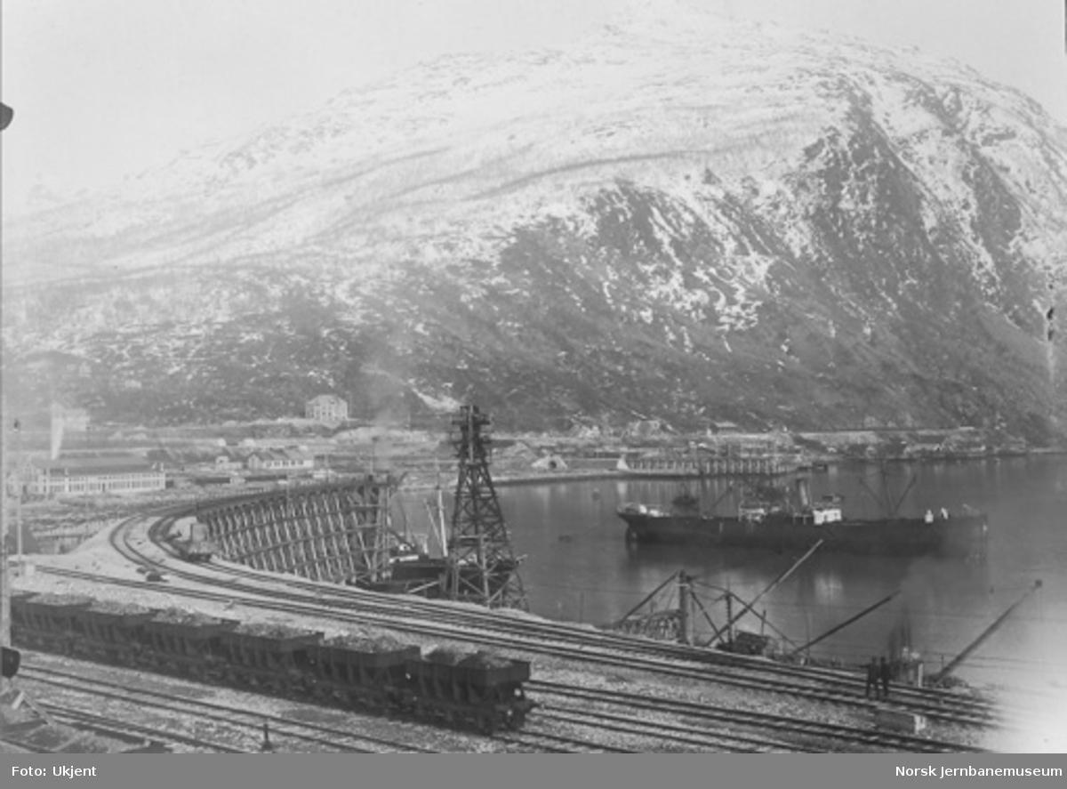 LKABs provisoriske lastekai i Narvik