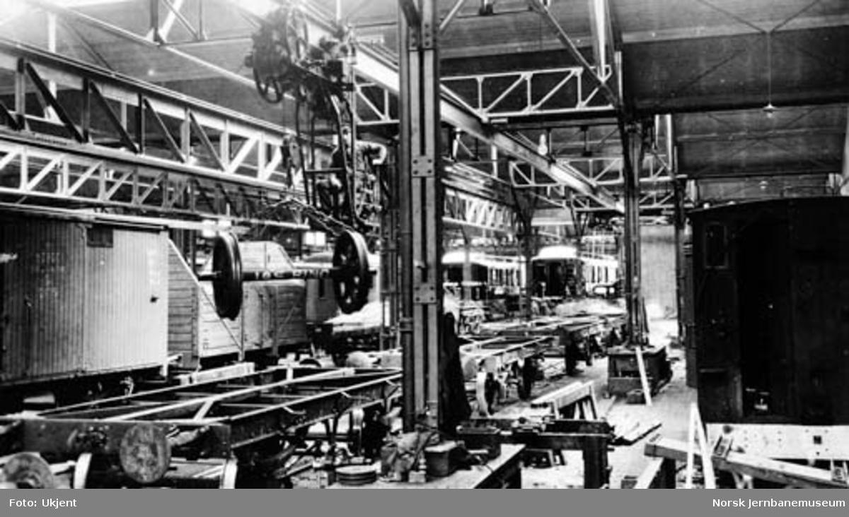Verkstedet Sundland : vognverkstedet med godsvogner