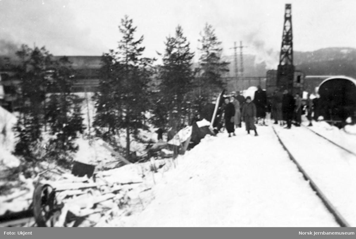 Togavsporing på Meråkerbanen 23. januar 1941 : opprydding etter avsporingen