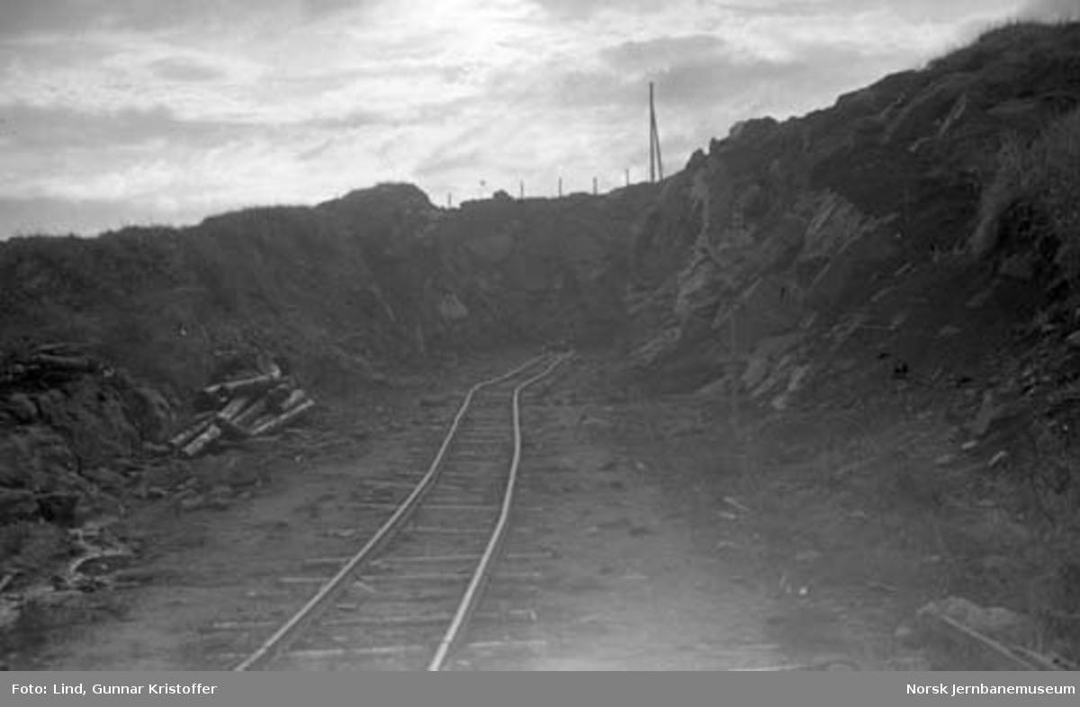 Nordlandsbaneanlegget : skjæring ved Nystad