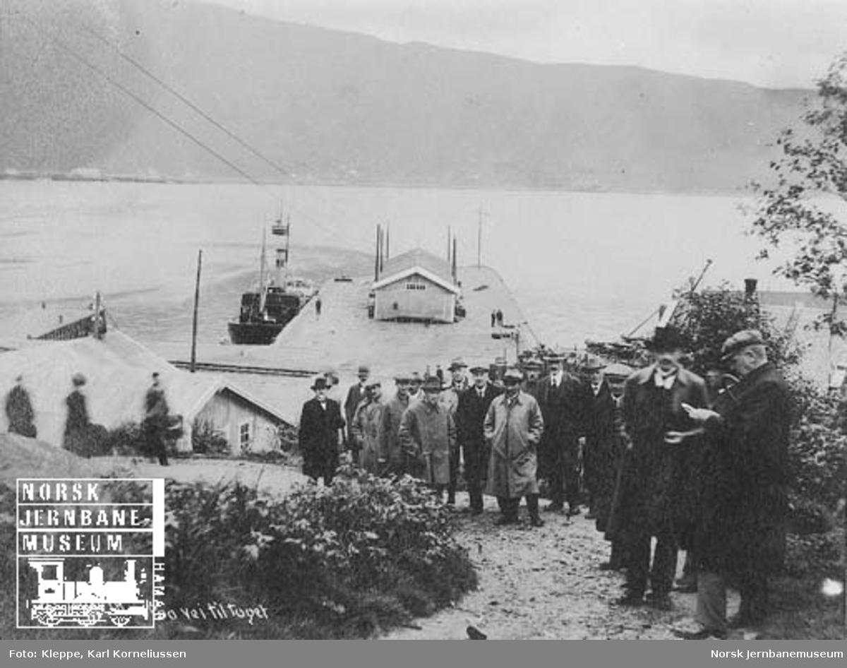 Befaring av Tromsbanen : bilder fra Narvik, på vei til toget
