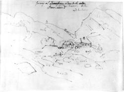 "SvinesundFra skissealbum av John W. Edy, ""Drawings Norway 1"