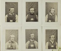 """""""Photografiskt Album för år 1861 öfver fångar förvarade å Wa"""