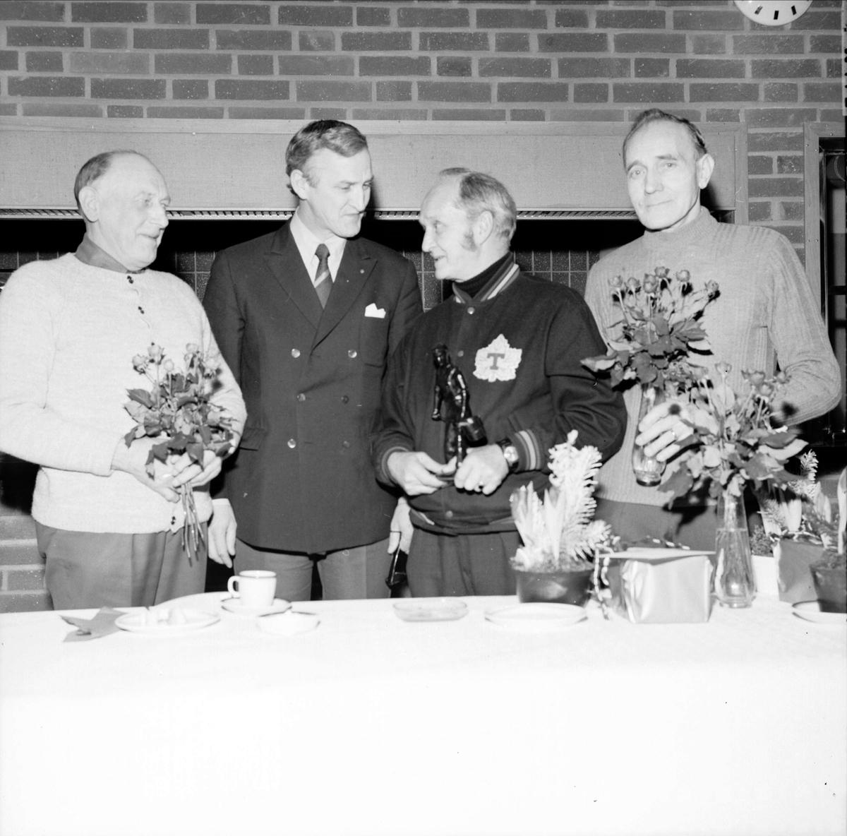 Julfest hos Tierps Järnbruk, Tierp, Uppland  december 1972