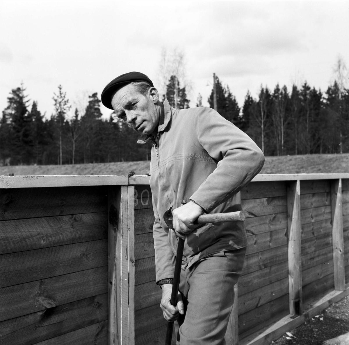 Ingvar Jansson - Vegavallens förste vaktmästare, Tierp, Uppland 1967