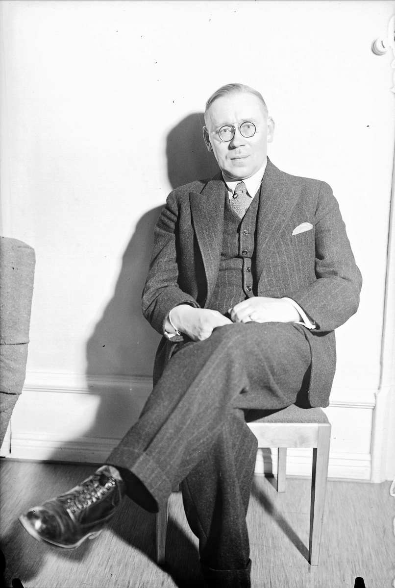 Man, Uppsala 1937