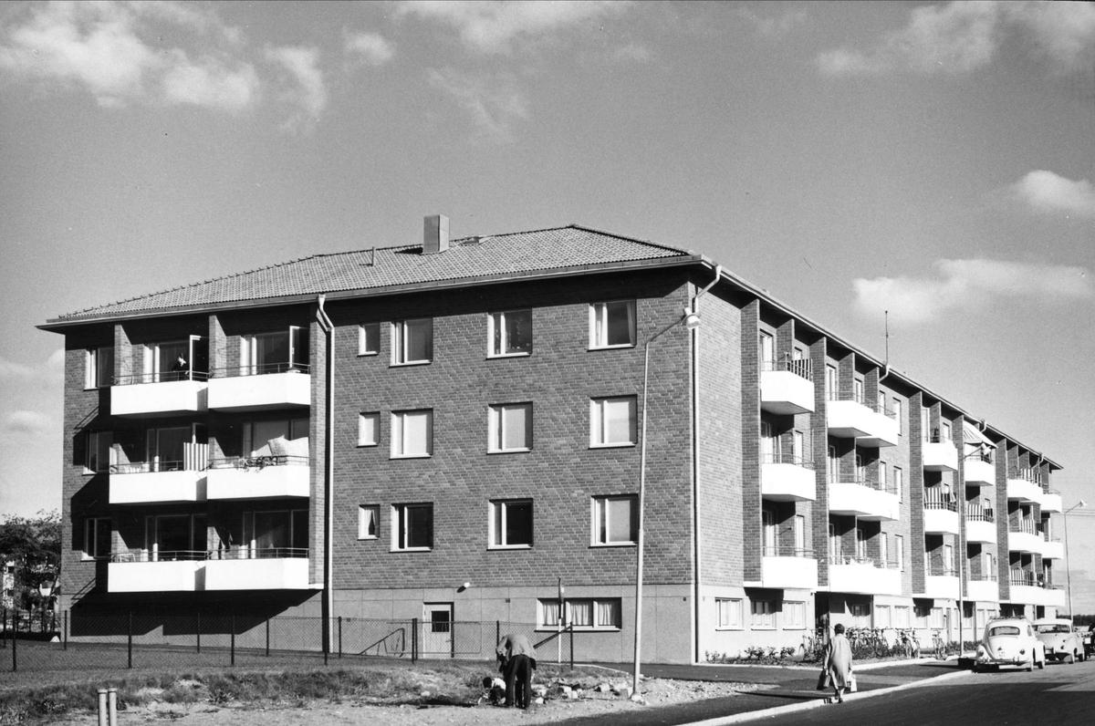 Flerbostadshus på Källparksgatan, kvarteret Gradskivan, stadsdelen Sala backe, Uppsala