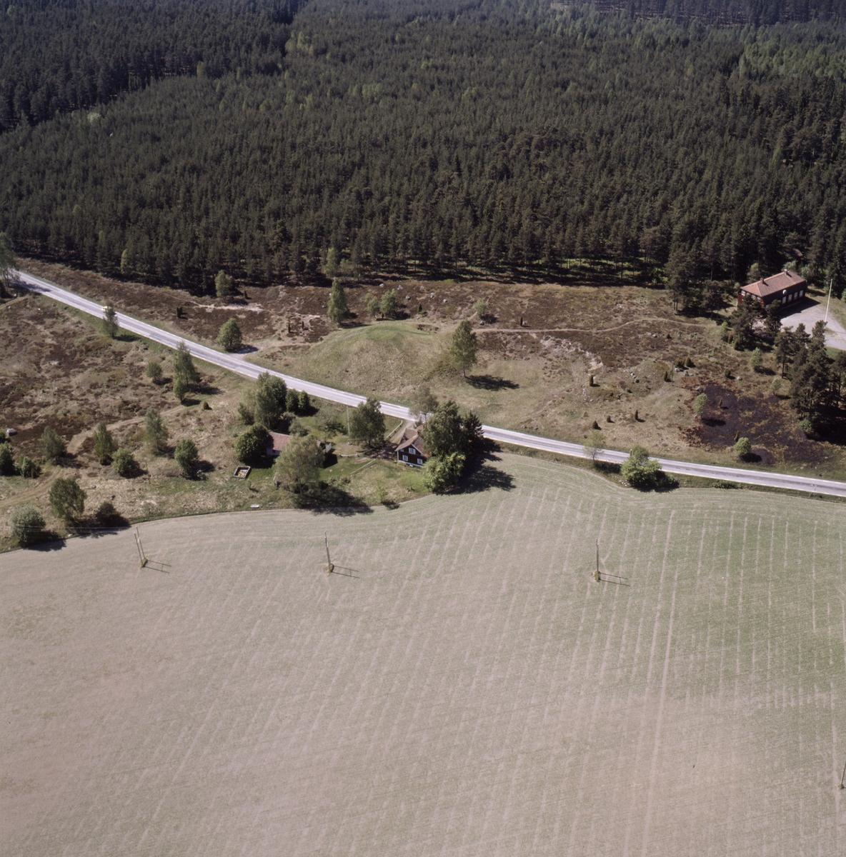 Vy över Ottarshögen, Husby, Vendels socken, Uppland, juni 1989