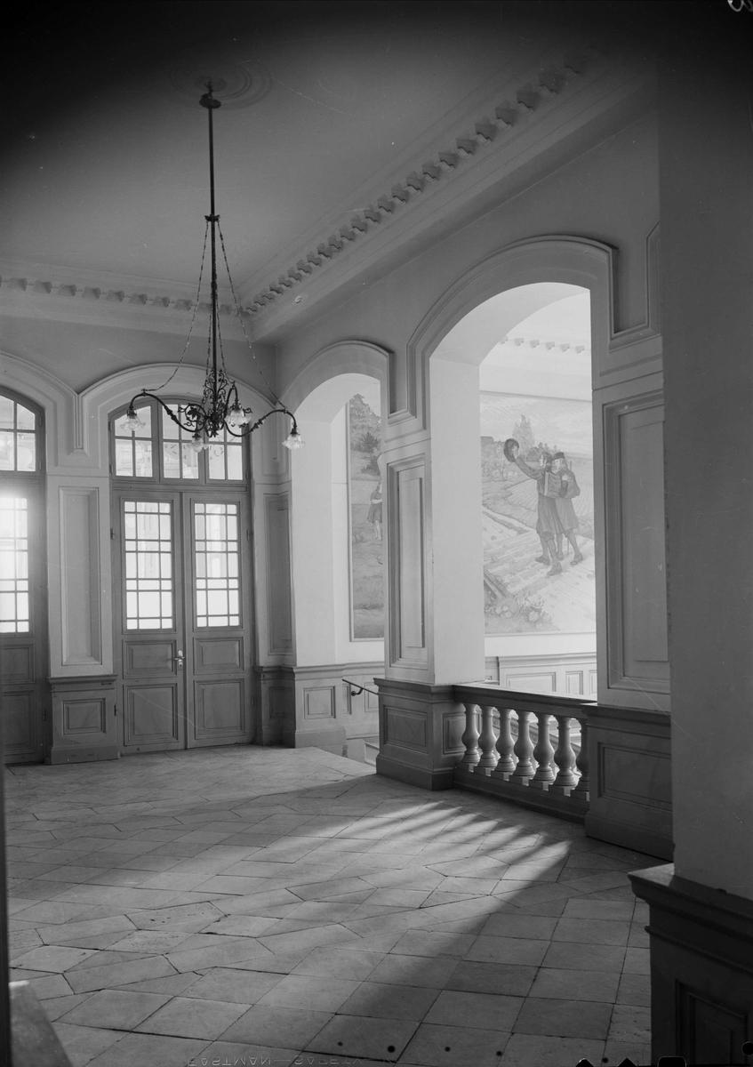 Interiör i Högre Allmänna Läroverket, Skolgatan 2, Uppsala 1940