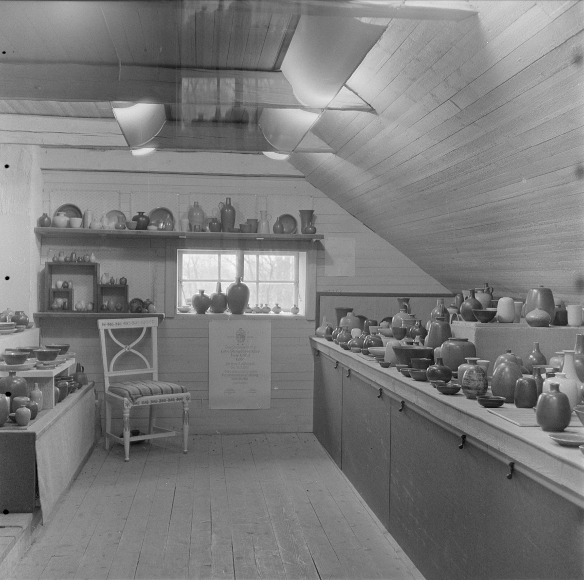 Keramik tillverkad av Ingrid och Erich Triller, Tobo, Tegelsmora socken, Uppland