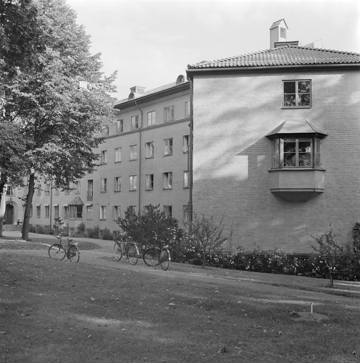 Sjuksköterskehem och elevbostad vid Akademiska sjukhuset, Uppsala 1958