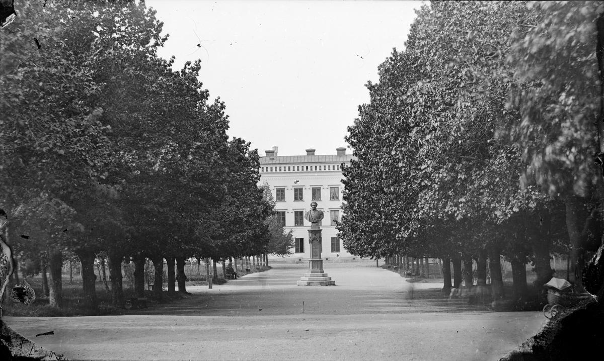 Engelska parken med Philologicum i fonden, Uppsala före 1914