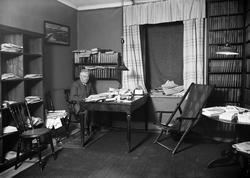Manne Hammargren i Upsala Nya Tidnings lokaler i Oxenstierns