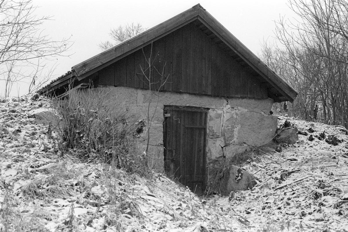 Källare, Möjbro 1:1, Möjbro, Hagby socken, Uppland 1985