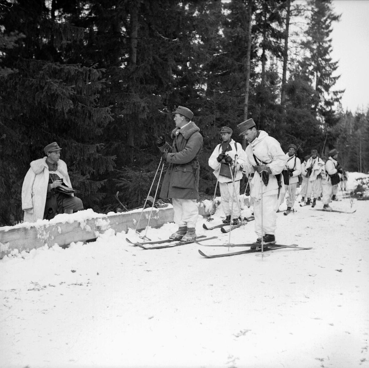 Militärmanöver i Enköping 1948