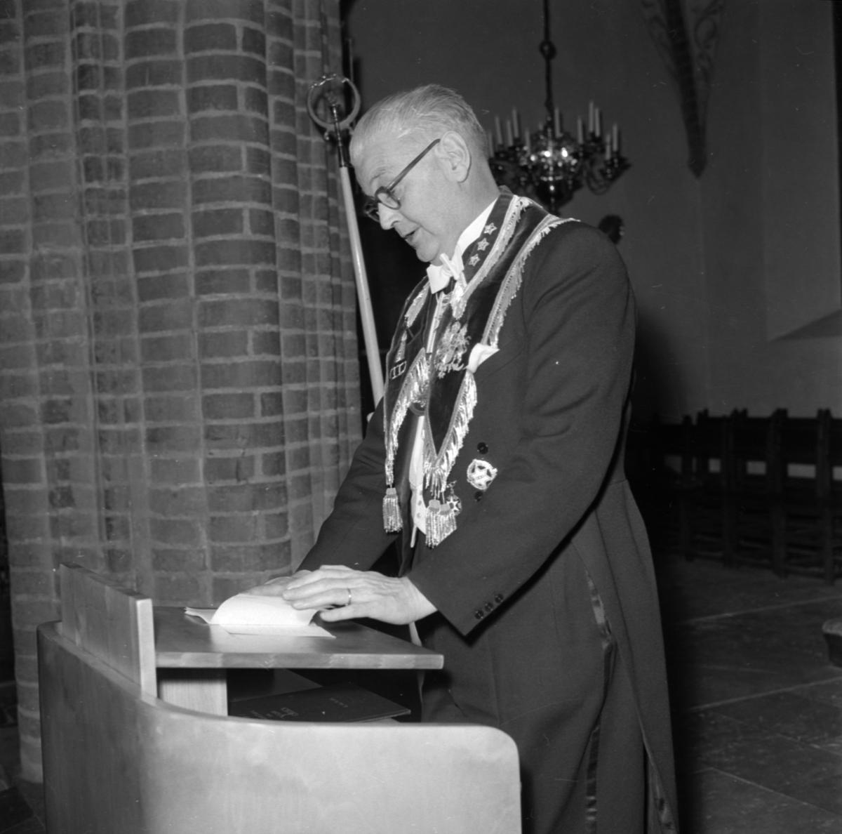 Ordenssällskapet Odd-Fellow firar sitt 60-års jubileum, Uppsala mars 1958