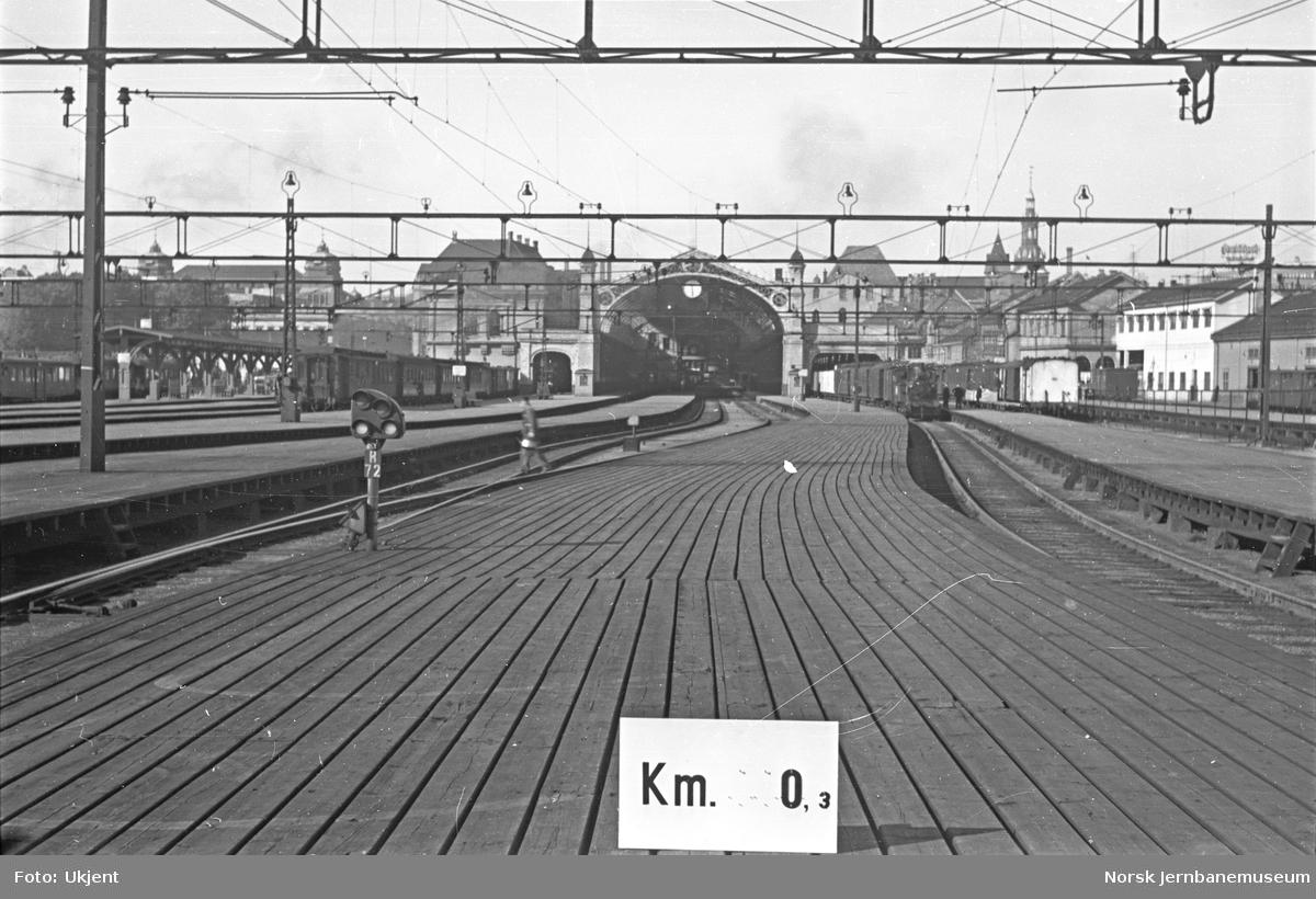 Hovedbanen : linjeføring km 0,3