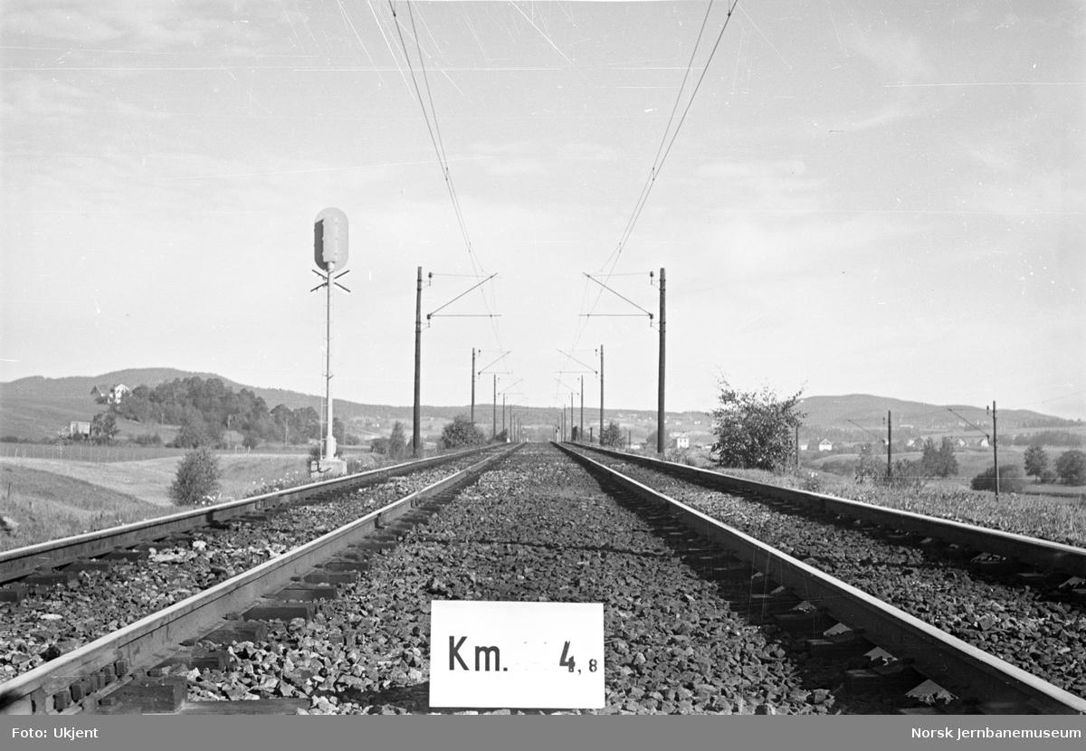 Hovedbanen : linjeføring km 4,7