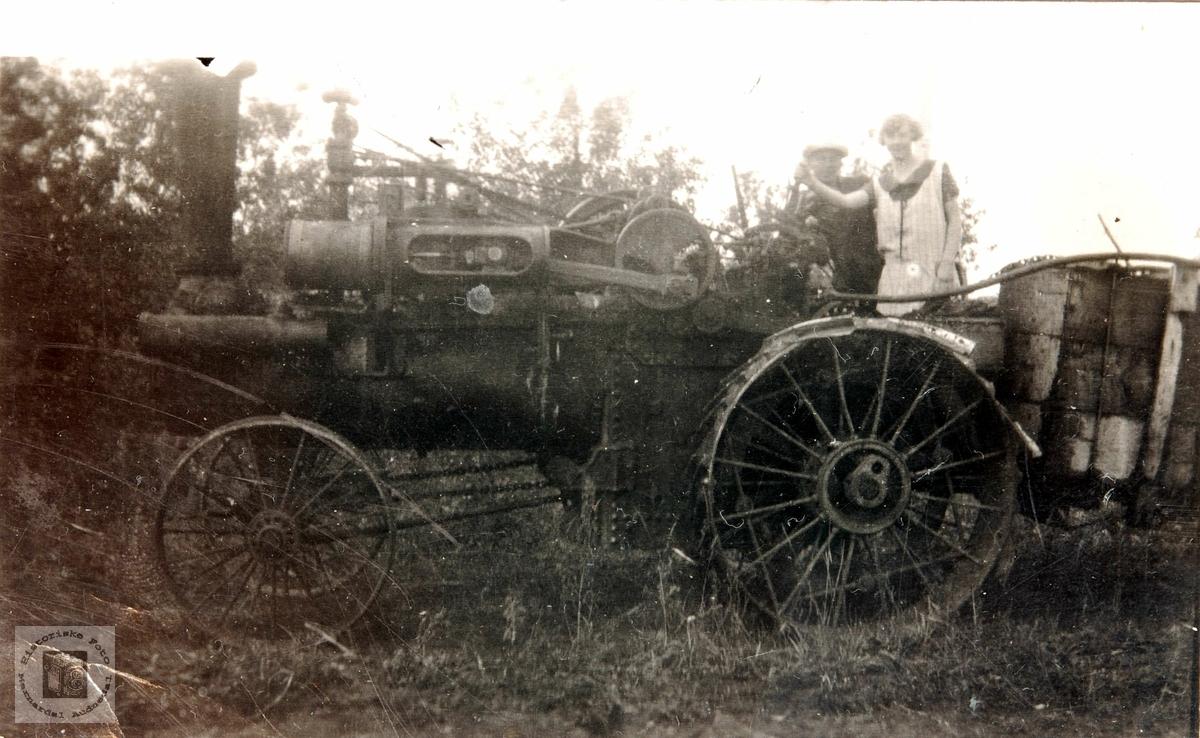 Gammel steamtraktor i Canada.