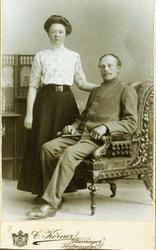 Portrett av Kari og Ole Smedsland, Grindheim.