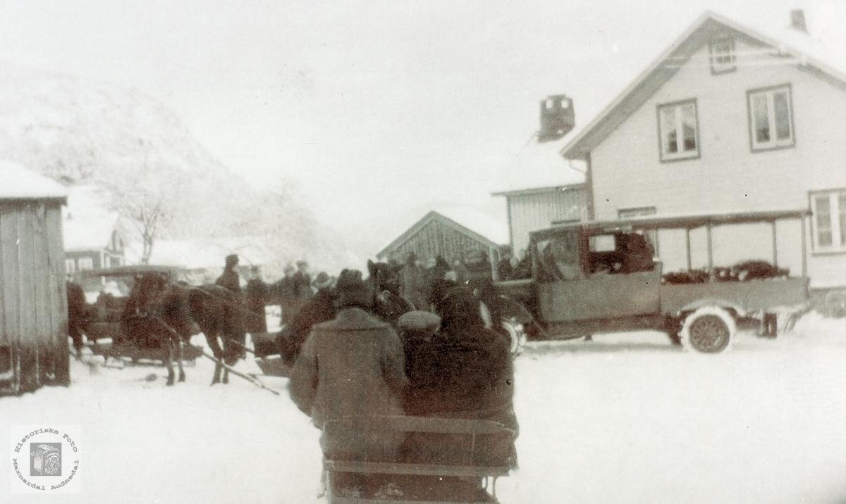 Gravferd på Volle, Byremo i Grindheim senere Audnedal.