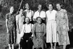 Familien Håland i Lunden Sveindal. Grindheim Audnedal.
