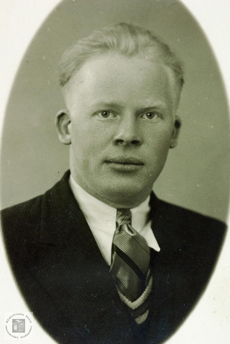Portrett av Åsmund Seland.Grindheim Audnedal.