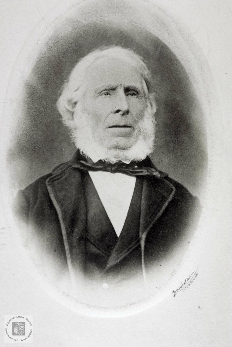 Portrett av lensmann Endre Refsnes. Grindheim Audnedal.