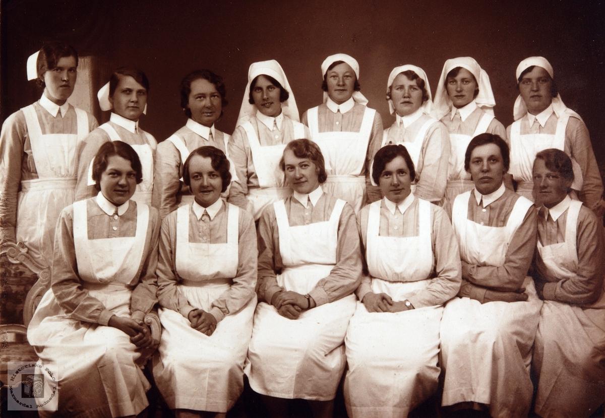 Sykepleierskoleelever.