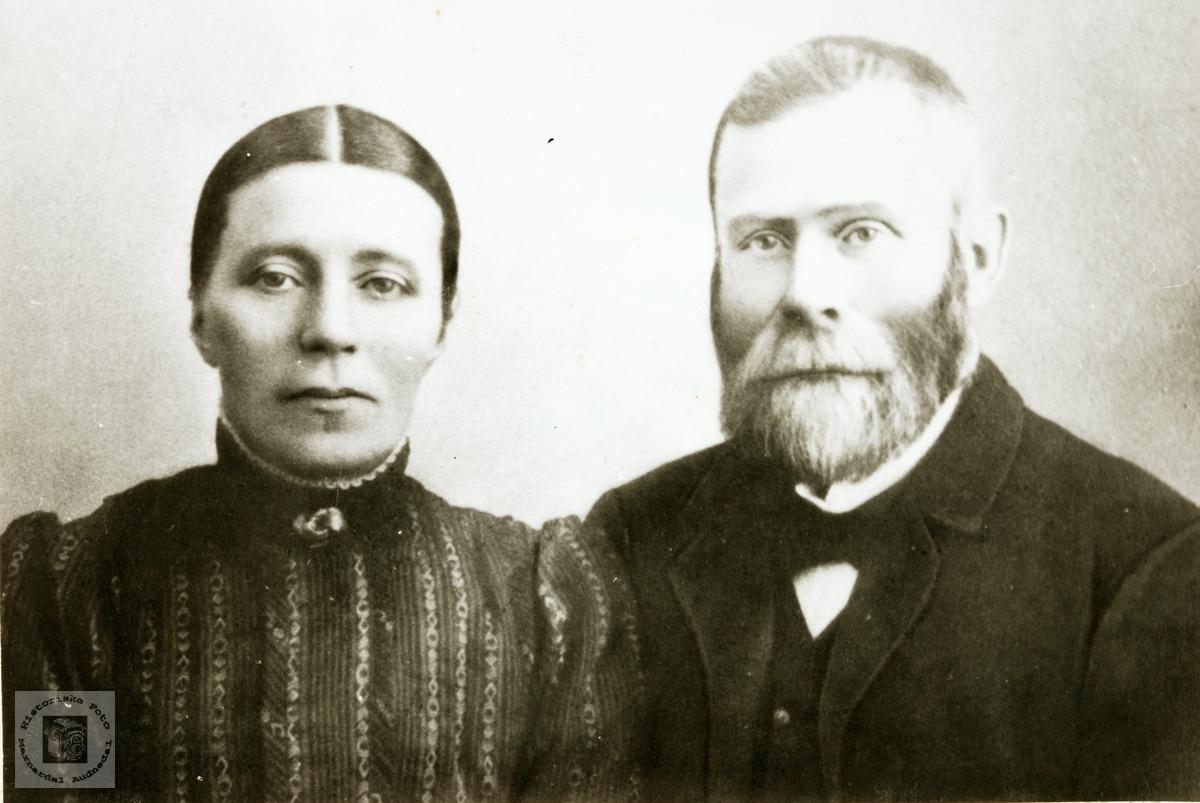 Portrett av ekteparet Ingeborg og Ånen Fiddan. Konsmo.