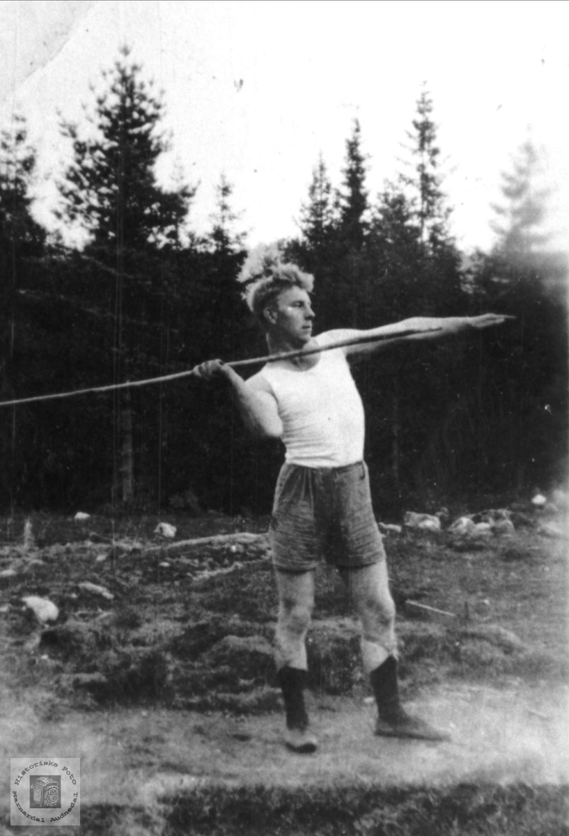 Knut Hefteli som idrettsmann, Bjelland.