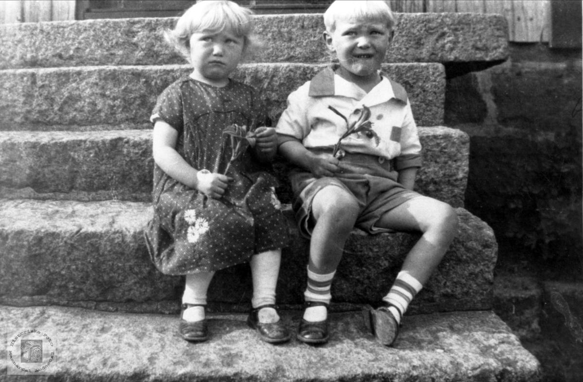 Portrett av Margot og Arnolv Rosseland, Bjelland.